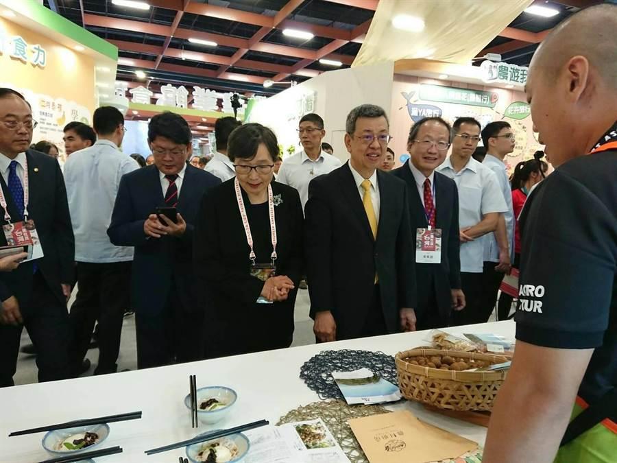 :「2019台灣美食展」26日在台北世貿一館盛大展開,其中台灣農業館展現台灣農業的新「食」力。(馮惠宜翻攝)