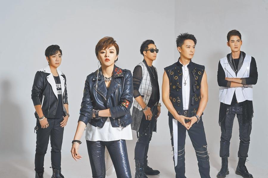87樂團成員艾成(左起)、王瞳、阿修羅、何豪傑、樂咖明天將在桃園出席活動。(資料照片)
