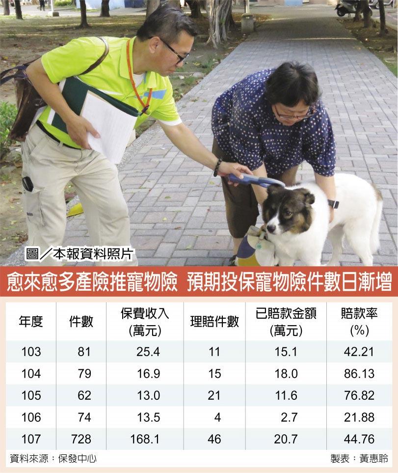 愈來愈多產險推寵物險 預期投保寵物險件數日漸增  圖/本報資料照片
