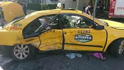 一家3口趕考搭小黃 民生東路高速遭撞 母不治女重傷
