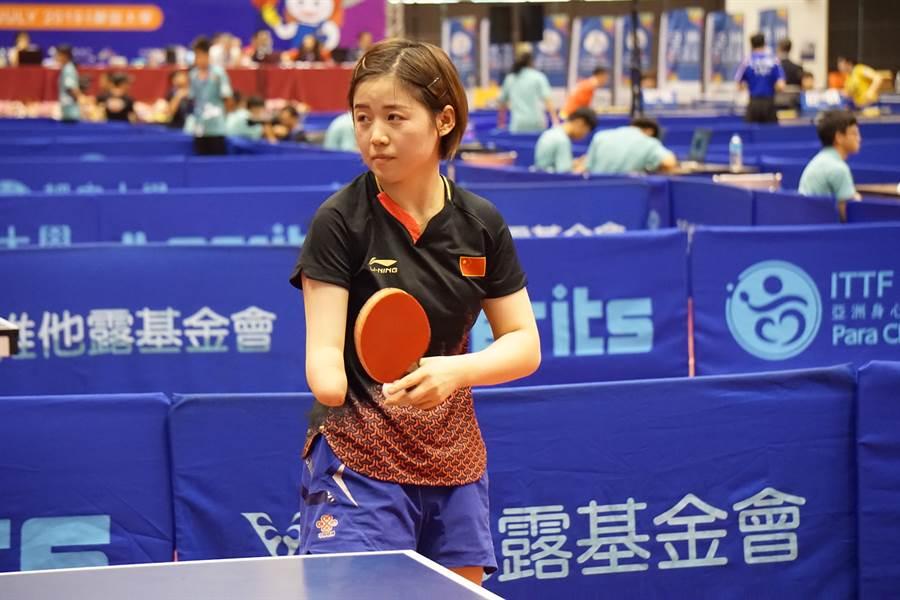 大陸隊趙小靜在個人賽、團體賽都讓中華隊吃足苦頭。(殘總提供)