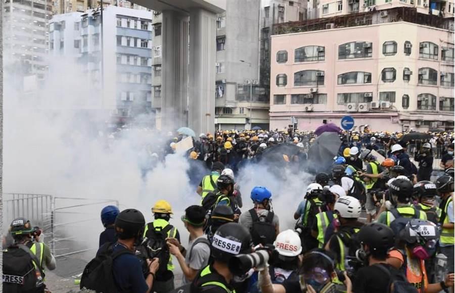 香港遊行衝突。