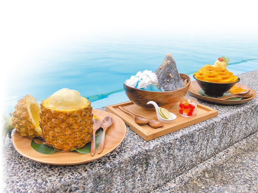太魯閣晶英酒店推出夏日的限定冰品,款款消暑又吸睛。(何書青攝)
