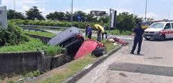 國道六2車對撞衝入邊溝  7人送醫