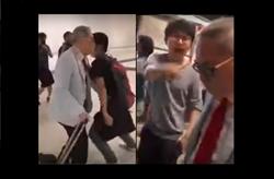 港機場老翁遭堵路辱罵 視頻瘋傳重傷示威形象