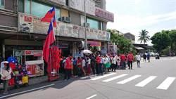 慶祝國民黨提名韓國瑜 台南韓友會設攤招待民眾大呼「我挺韓,我幸福」