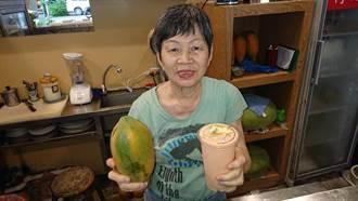 台南第一杯木瓜牛奶  阿田水果店賣了57年