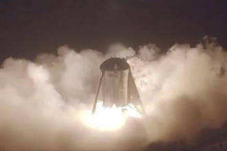 SpaceX 星艦完成「首跳」 火箭騰空20公尺