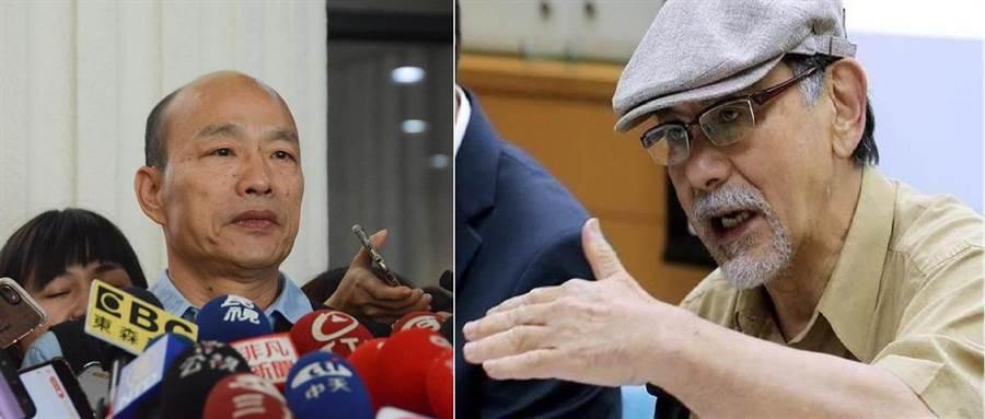 國民黨總統候選人韓國瑜(左)、前民進黨立委林濁水(右)。(圖/合成圖,本報資料照)
