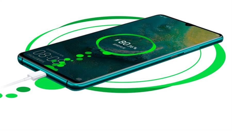 華為首款5G手機「Mate20 X」。(翻攝華為官網)