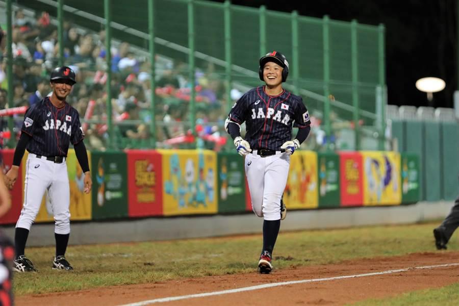日本高橋昇聖對中華隊單場雙響炮、敲4打點。(中華棒協提供)
