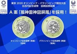 東京奧運500日圓紀念幣 採風神雷神圖案