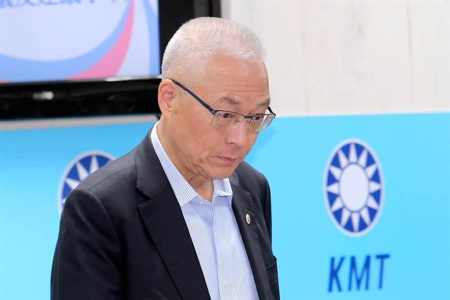 吳敦義出席第20屆中央評議委員第3次會議。(黃世麒攝)