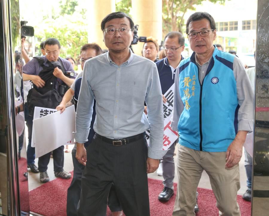 國民黨立法院團總召曾銘宗(左)。(資料照,王英豪攝)