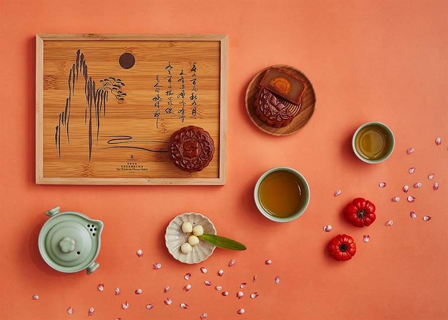 香格里拉台南遠東國際大飯店設計木質禮盒。(香格里拉台南遠東國際飯店提供)