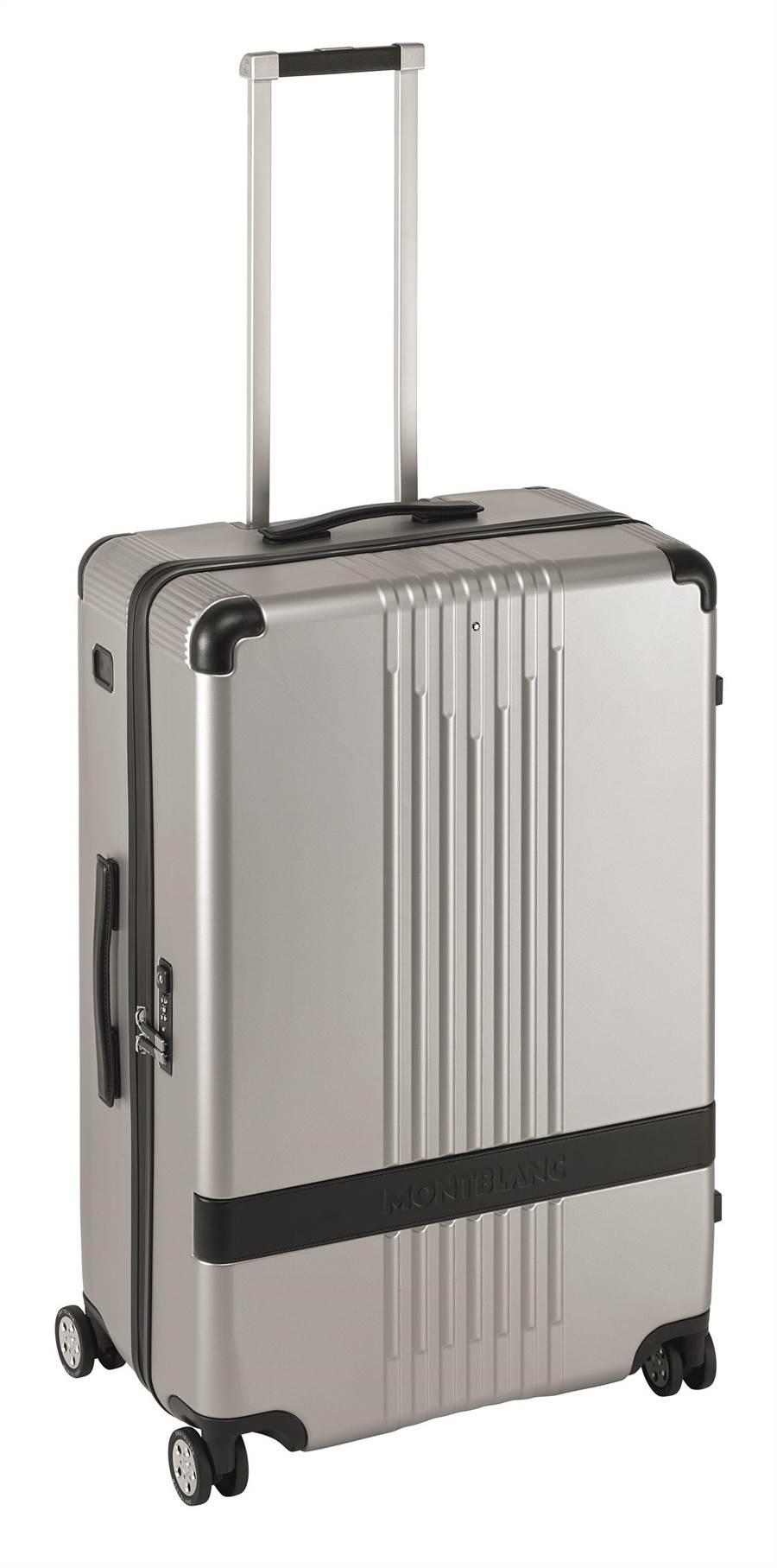 萬寶龍#MY4810系列銀色中型行李箱,2萬8800元。(MONTBLANC提供)