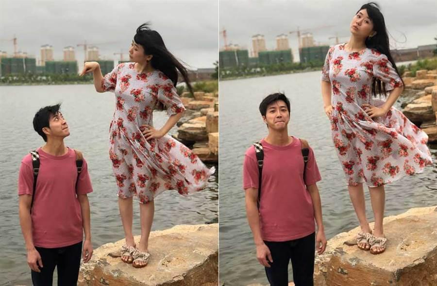 江宏傑出賣福原愛真實身材,炫耀老婆產後僅3個月已恢復美好身形。(取材自江宏傑臉書)