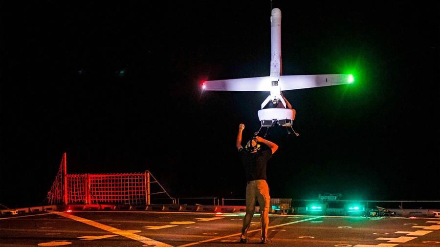 美國海軍正在測試可垂直起降的V蝙蝠無人機。(圖/美國海軍)