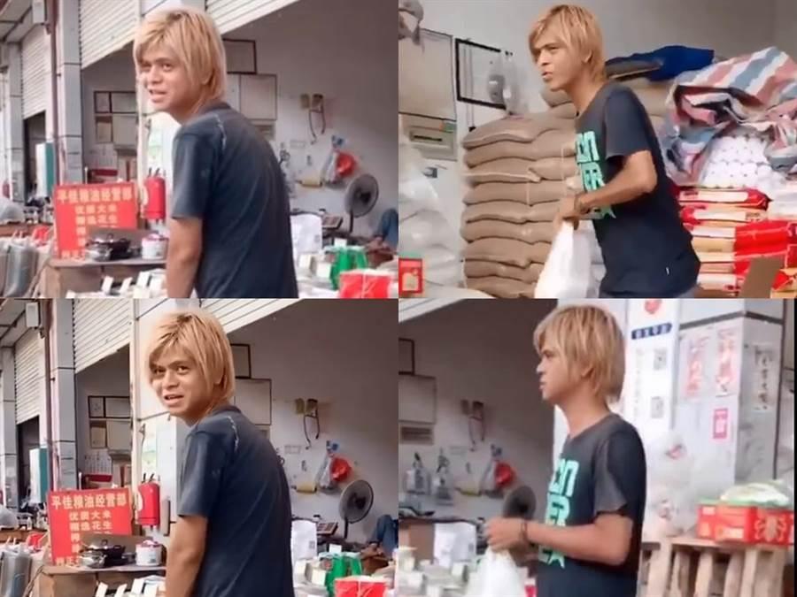 網友認為攤販小哥撞臉羅志祥。(圖/微博@追星安利社)