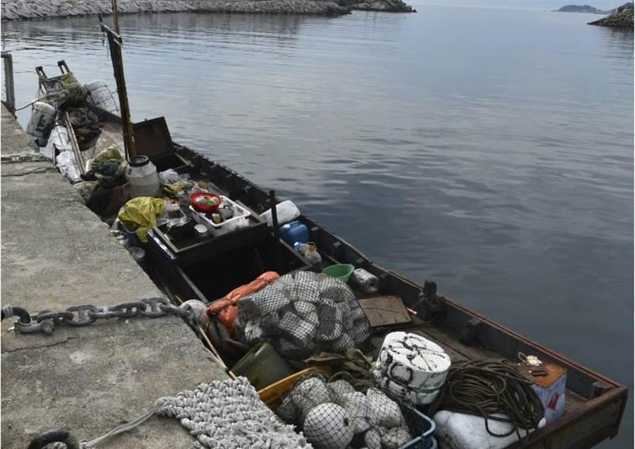圖為被南韓所扣的越界北韓漁船