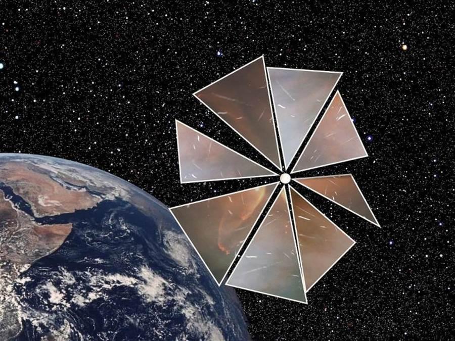 未來的太陽帆太空船想象圖。(圖/行星協會)