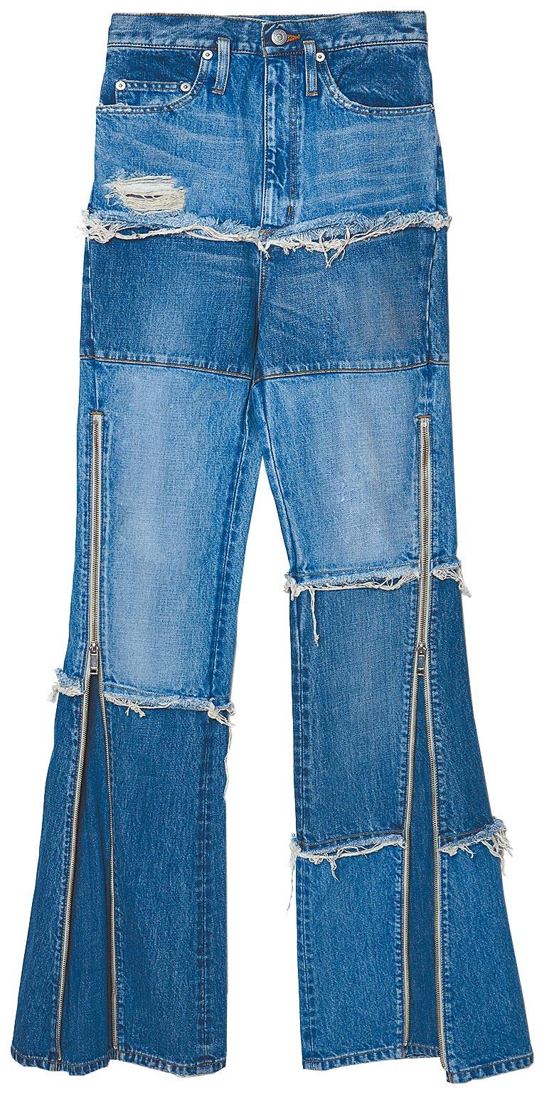 CHRISTIAN DADA拼接開衩牛仔褲,售價未定。(CHRISTIAN DADA提供)