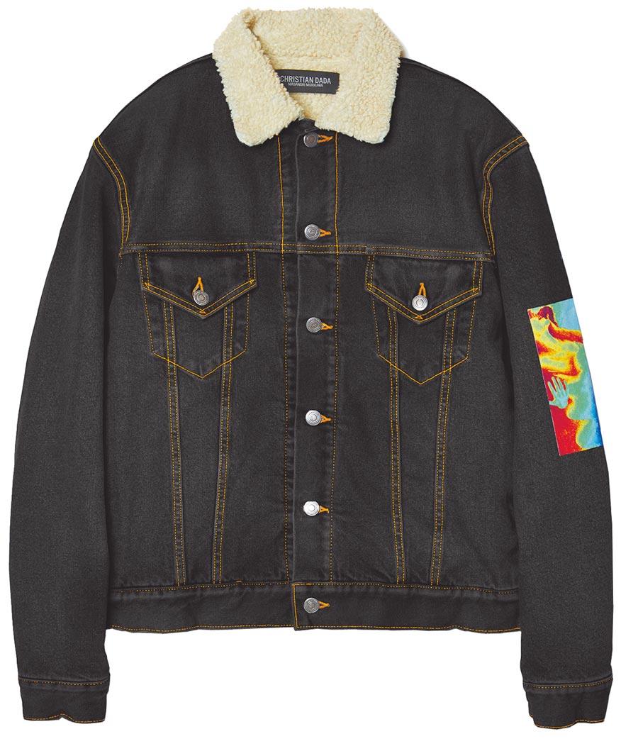 CHRISTIAN DADA翻毛領牛仔外套,售價未定。(CHRISTIAN DADA提供)