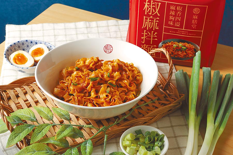PChome 24h購物獨家的麻膳堂椒麻拌麵,4包/袋、220元 。(PChome 24h購物提供)