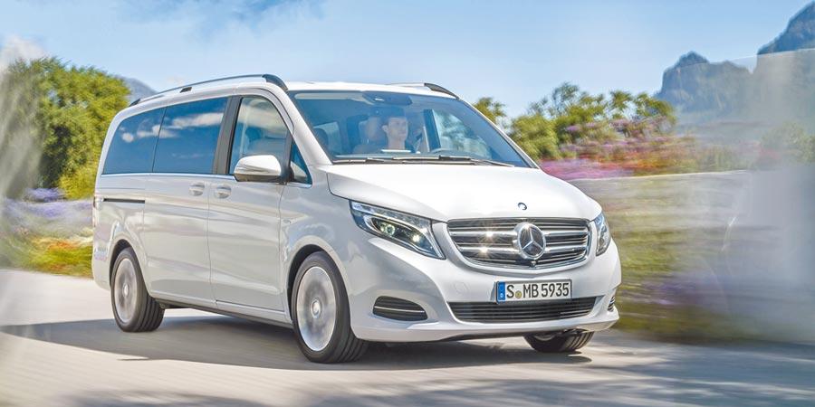 Mercedes-Benz V-Class有6、7、8人座,售價176萬元起。(Mercedes-Benz提供)