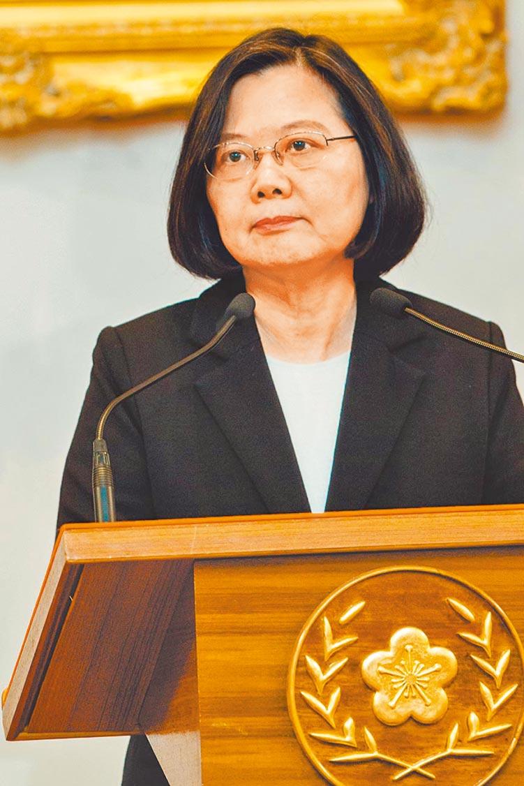 蔡英文接受NHK專訪,重申拒絕一國兩制。圖為1月3日蔡英文回應習近平《告台灣同胞書》,強調台灣不會接受「一國兩制」。(本報系資料照片)