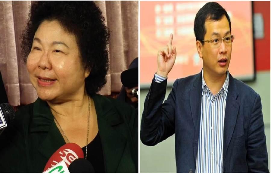 總統府祕書長陳菊(左)、前總統府副秘書長、現任台北市議員羅智強(右)。(圖/合成圖,本報資料照)