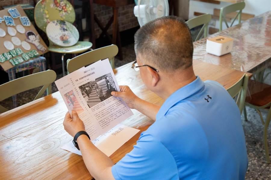 陳杰是中國國民黨資深黨員,對於黨的發展十分關心。 (謝瓊雲翻攝)