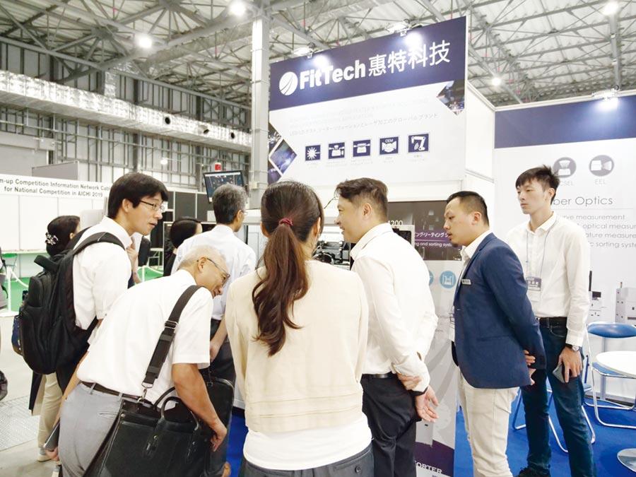 惠特科技參加東京光通訊展,吸引許多國際買主目光。圖/業者提供