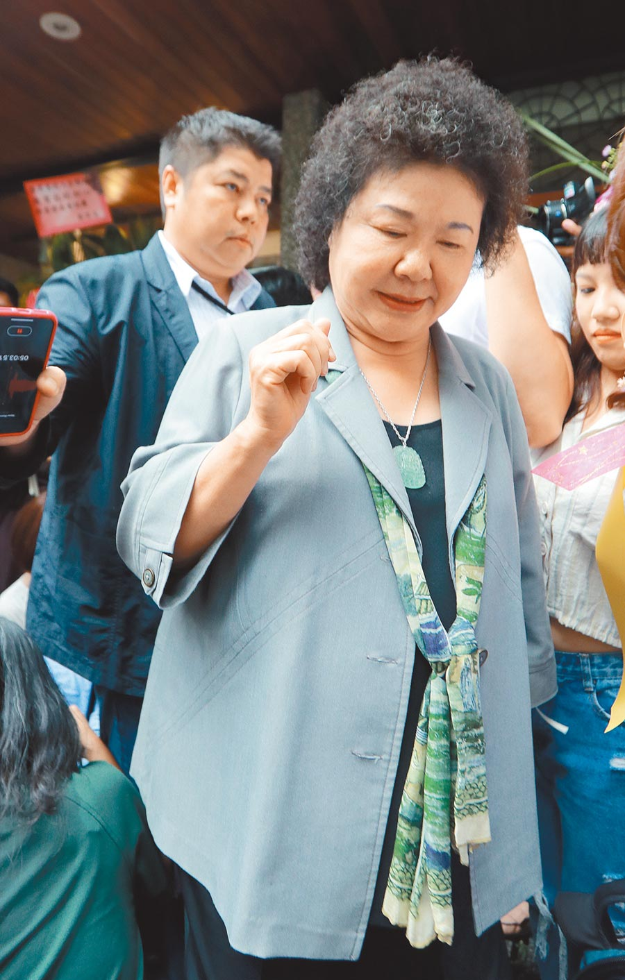 總統府祕書長陳菊。(陳怡誠攝)