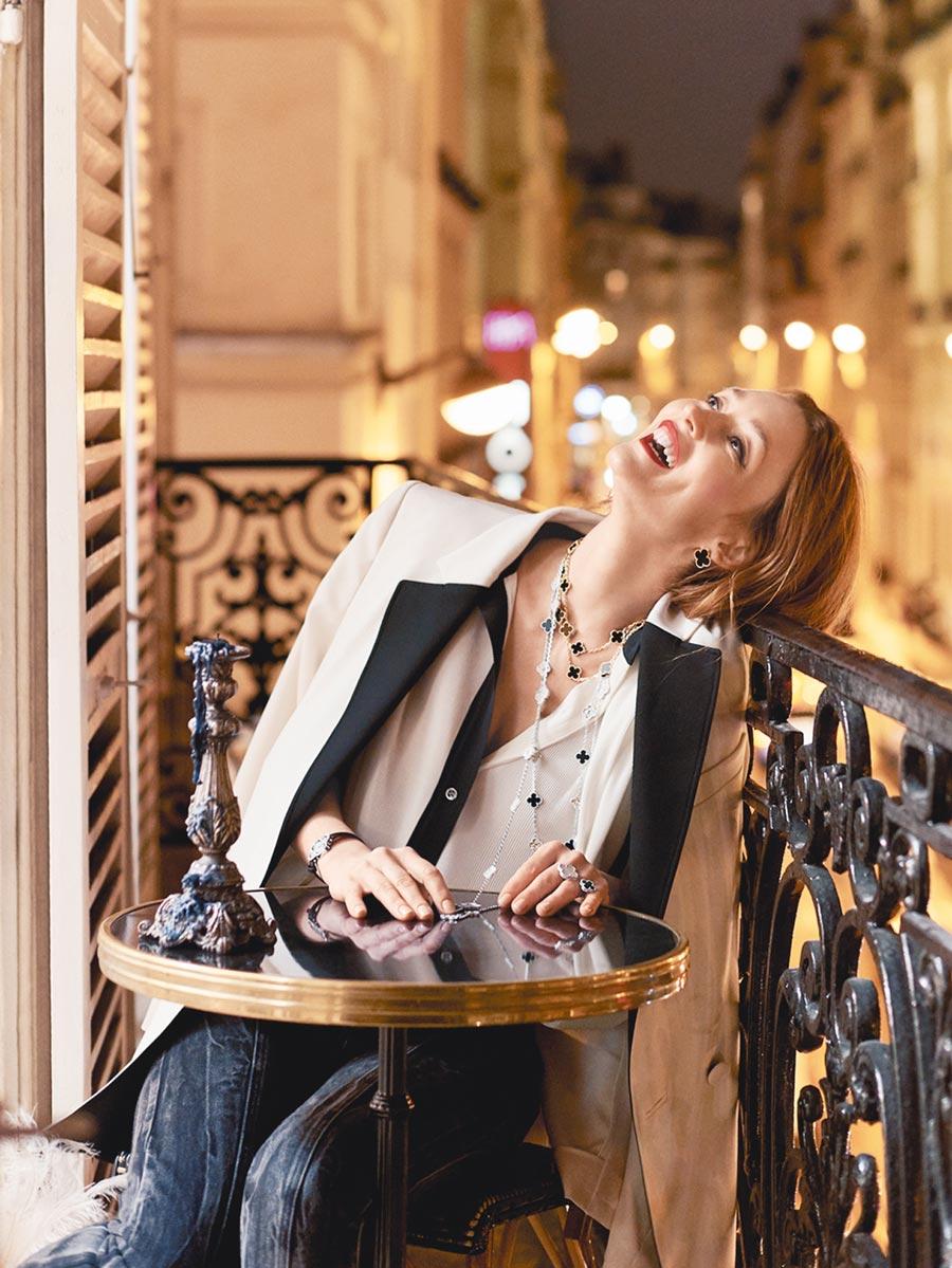 梵克雅寶Alhambra系列珠寶因風格百搭和辨識度高,深受名媛仕女的喜愛。(Van Cleef & Arpels提供)