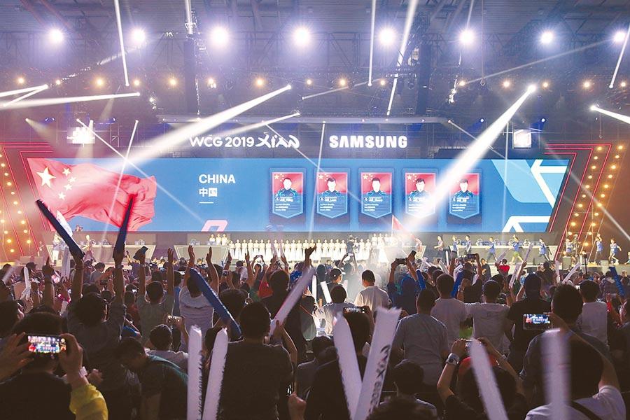 7月18日,被譽為「電競奧林匹克運動會」的WCG 2019世界總決賽於西安開幕。(中新社)