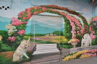 彰化有座101忠犬的故鄉   忠權社區3D彩繪忠犬角逐金卓越獎