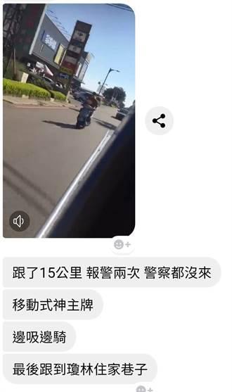金門男子邊騎機車邊吸膠 警方逮捕送辦
