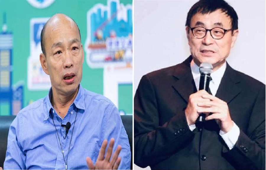 高雄市長韓國瑜(左)、著名作曲家劉家昌。(圖/合成圖,本報資料照片)