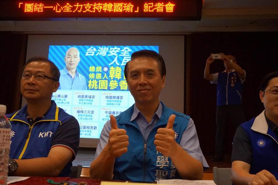 陳學聖對於時力挺綠,認為也歡迎各黨與國民黨團結。(甘嘉雯攝)