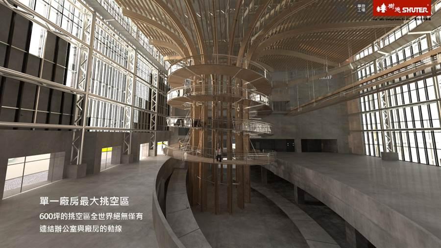 樹德企業南投新廠「BABBUZA半山夢工廠」最吸睛的應是高30公尺、直徑16.6公尺的生命樹,未來將申請金氏世界紀錄。(樹德企業提供)