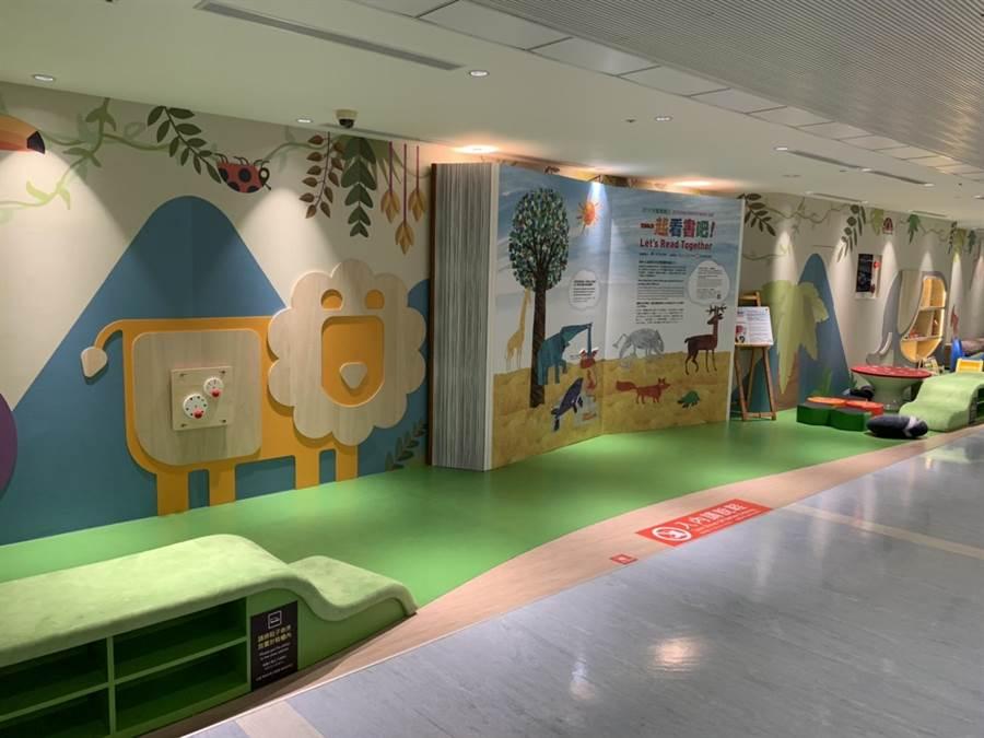 兒童遊戲區讓孩子能輕鬆候機。圖:台北航站