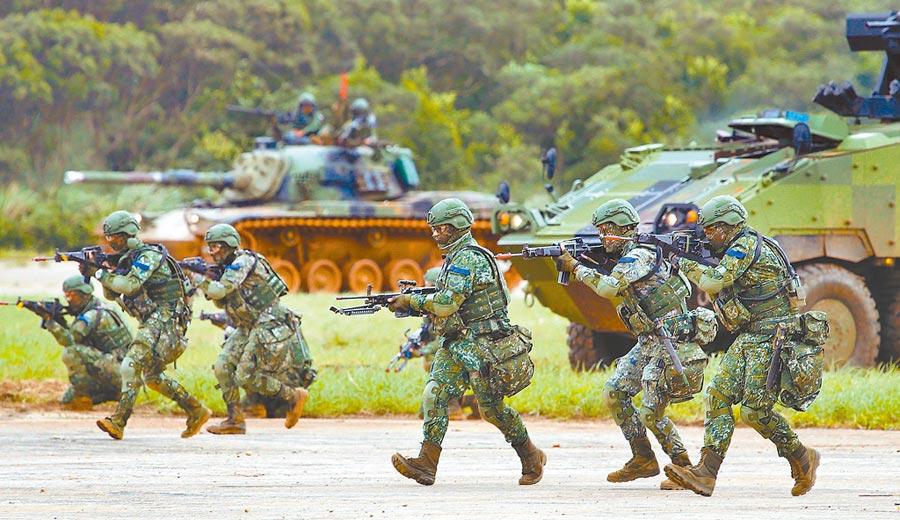 5月29日,新竹湖口舉行漢光演習實兵對抗反機降演練。(本報系資料照片)