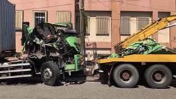貨櫃車追撞砂石車 6旬婦雙腳遭輾