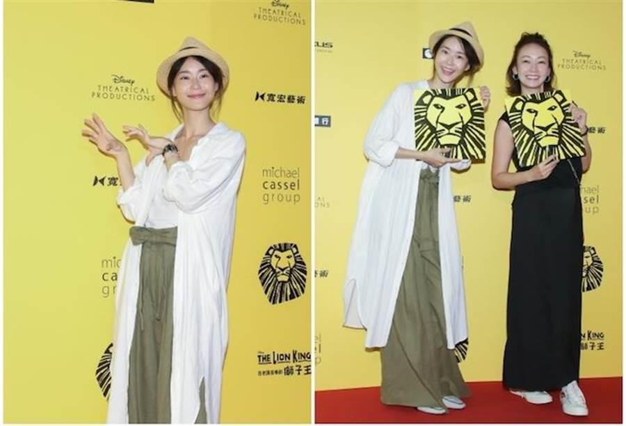 鍾瑶(左)和好姐妹潘慧如一起欣賞舞台劇。