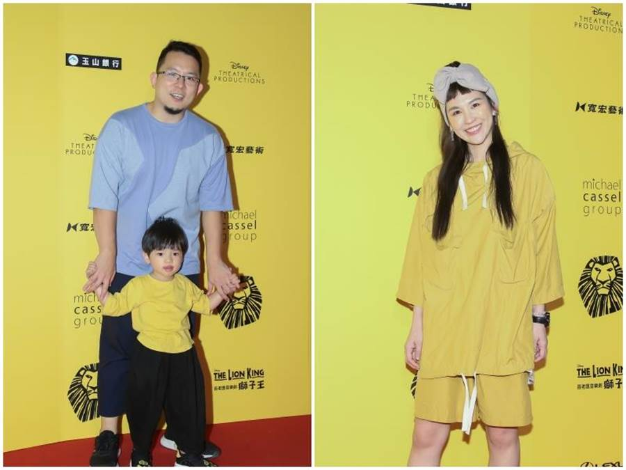 小威帶兒子(左),魏如昀(右)。