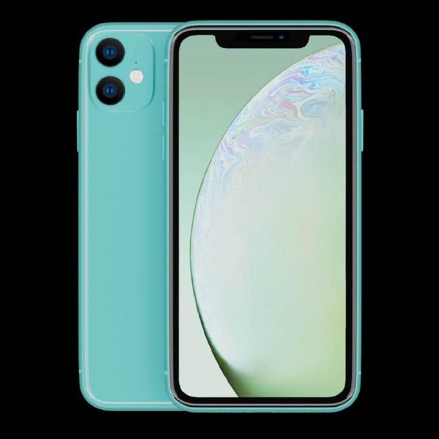 陸媒曝光的新一代 iPhone XR綠色款式渲染圖。(圖/翻攝手機中國)