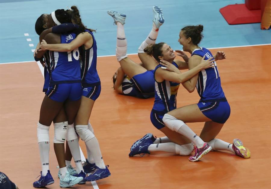 義大利女排隊去年世錦賽表現出色。(美聯社資料照)
