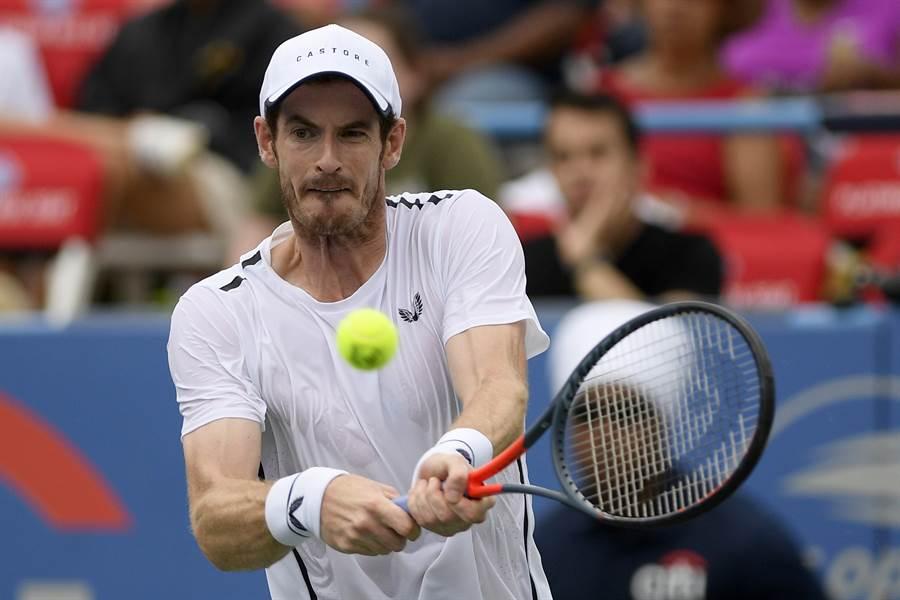 英國男網名將A.莫瑞,重返球場前兩個月左右主要透過雙打賽事找狀態,最快8月美國辛辛那提大師賽才會拚單打。(美聯社)