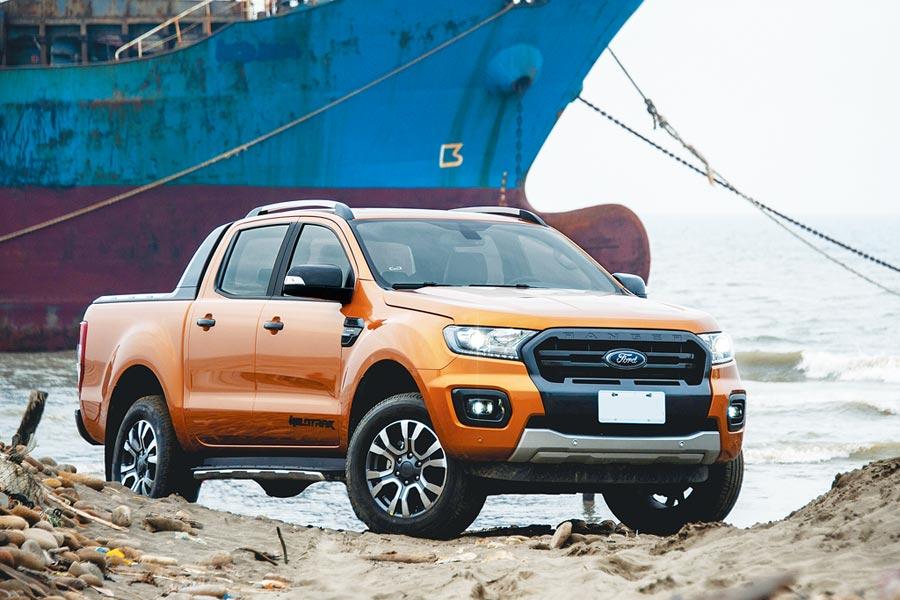 Ford今年為RANGER Wildtrak旗艦型加配15萬元Ford Co-Pilot360 Technology全方位智駕領航科技配備。(陳大任攝)